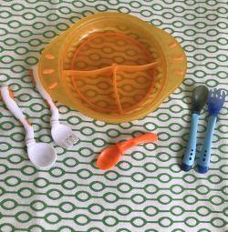 Platouri / furculițe pentru linguri