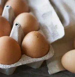 Homemade chicken eggs