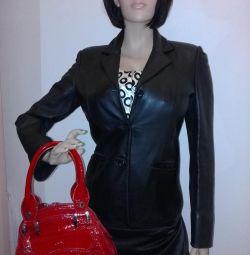 Handbag genuine patent leather Italy