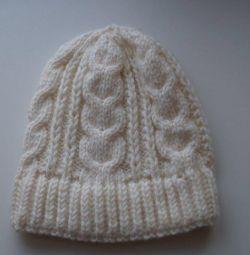 Πλεκτό καπέλο χειροποίητο