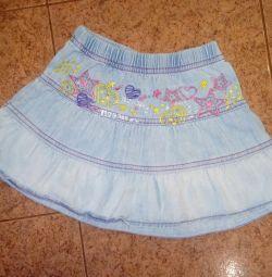 Jeans skirt.
