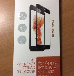 Защитное стекло 3D interestep для iPhone XR с чeрн