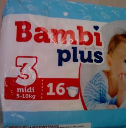 Diapers №3 for 5-10 kg.