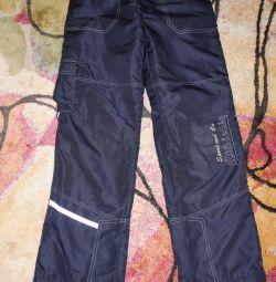 Trousers demi-season on fleece size 146
