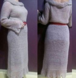 Knitted dress from Kid mohair ALIZE.