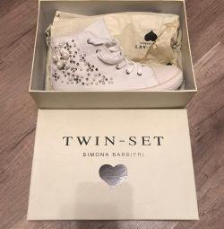 High sneakers, twin set sneakers