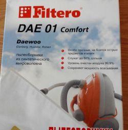 Набор пылесборников Filtero DAE 01 Comfort