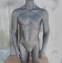 Το fiberglass του ανθρώπου του Torsos. Μαύρο.
