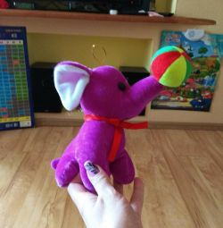 Elephant jucărie moale