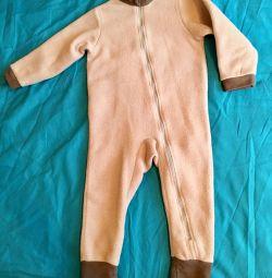 New Bondini Overalls fleece poddeva 92-98cm