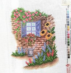 Schemes on the canvas for cross stitching
