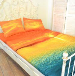 Lenjerie de pat 1,5 dormit Apus de soare