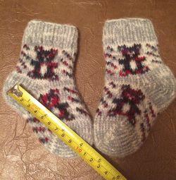 Шкарпетки вовняні нові для новорождeнних