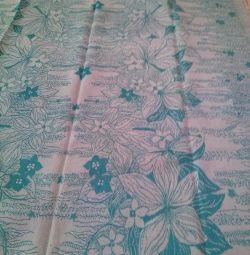 New half-linen bedspread