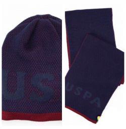 Νέο καπέλο + κασκόλ (σύνολο) US Polo Assn