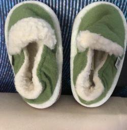 New handmade woolhouse slippers