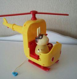 игровой набор peppa pig кролик на вертолете