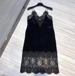 Dantel süslemeli elbise kombinasyonu
