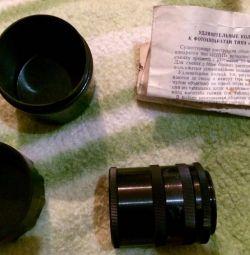 Удлинительные кольца к фотоаппаратам типа ЗЕНИТ