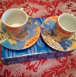 Set de cafea. Porțelan. Crimeea