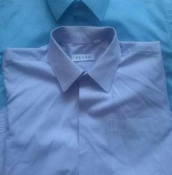 Shirt school on the teenager.