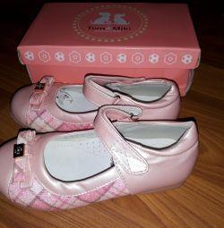 Νέα παπούτσια r. 30 δέρματα με φύση