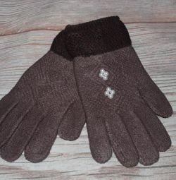 Женские перчатки с начесом в ассортименте новые
