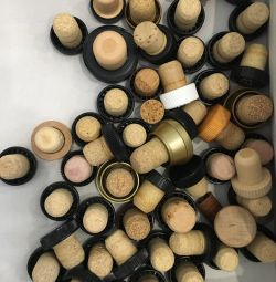 Corks from under the cognac cap plugs