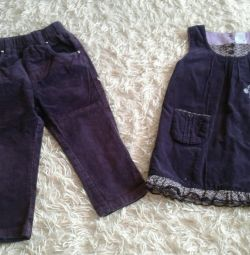 Sarafon și velur pantaloni