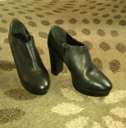 Boots leather, 38-39 times., 3000 rub