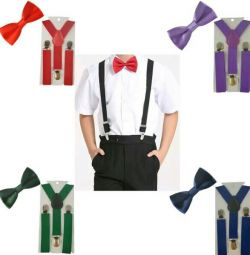 Butterfly and suspenders for children and adolescents