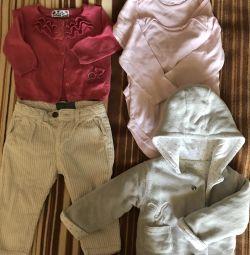 Ρούχα για κορίτσια 9-12 μήνες.