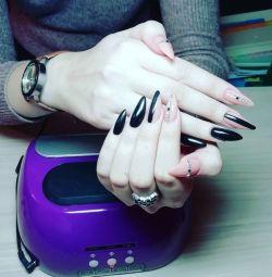 Extensii de manichiură, pedichiură și unghii.