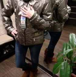 Зимова Нова стильна куртка жіноча сталь