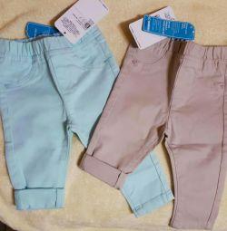 Παντελόνια (2τμ) LC WAIKIKI για κορίτσια για 6-9 μήνες