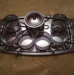 Stainless steel tea set (bargaining)