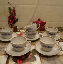 Tea cups. 6 pairs.