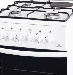 Greta cooker combined with electric oven