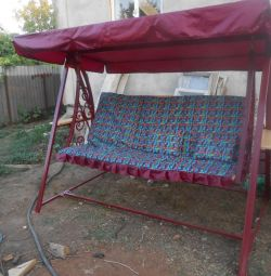 folding garden swing
