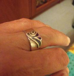 Очень красивое серебряное кольцо+подарок