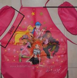 Apron for work with mitts. New. Winx. Tachki