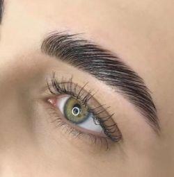 Lamination of cilia and eyebrows + BOTOX