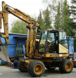 Rental of special equipment, excavator.