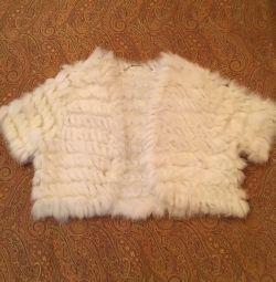 Bolero din blană tricotată