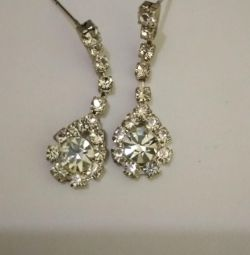 Earrings with rhinestones