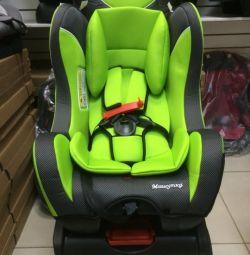 Mishutka car seat 0-25 kg. New. Green