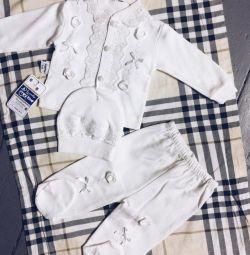 Set shirt + panties + cap 0-3,