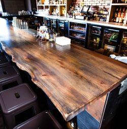 Мебель столы барная стойка кафе массив Дуба. Лофт