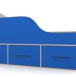 Κρεβάτι για παιδί από 3 ετών με τρία συρτάρια