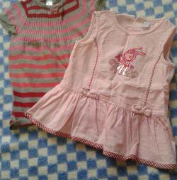 bebek üzerinde elbiseler